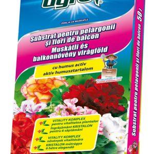 AgroCs muskátli és balkonnövény virágföld