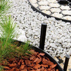 Ágyásszegély, agroszövet, geotextília