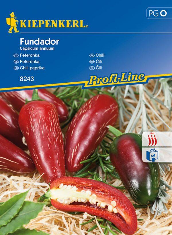 Chili paprika Fundador fajta vetőmag