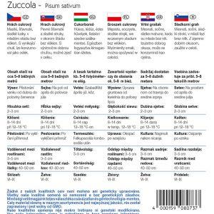 Cukorborsó Zuccola fajta vetőmag ismertető