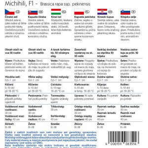 Kínai kel Michihili fajta vetőmag ismertető