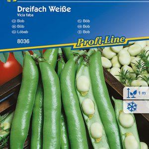 Lóbab Dreifach Weisse fajta vetőmag