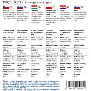 Mángold Bright Lights fajta vetőmag ismertető