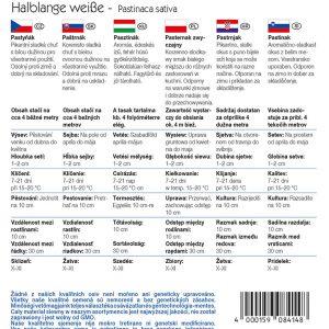 Pasztinák Halblange weisse fajta vetőmag ismertető