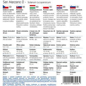 Salátaparadicsom San Marzano 2 fajta vetőmag ismertető